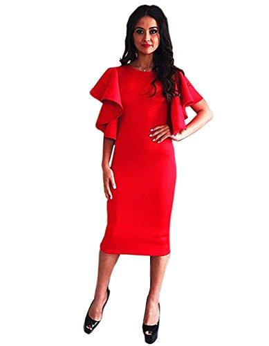 365-shopping-womens-dew-shoulder-bodycon-office-dress-long-tops
