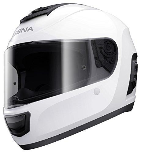 Preisvergleich Produktbild Momentum,  Dual - Bluetooth Helmet,  Full Face,  Glossy White,  XS size,  ECE