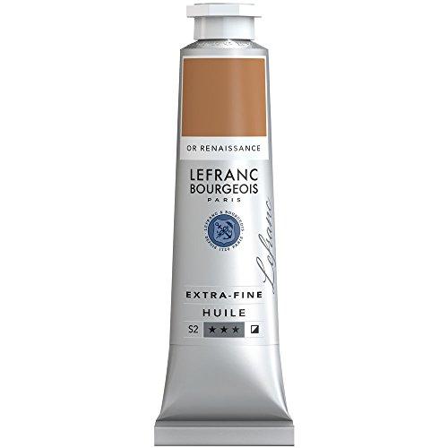 Lefranc & Bourgeois Lefranc Extra Fina Pintura al óleo-Tube, Artista pigmentos, Renaissance Gold, 40 ml