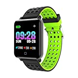 ASD Smart Watch Frequenza Cardiaca Fitness Bracciale Sleep Monitor Fitness Inseguitore Pressione Sanguigna IP67 Impermeabile Color Screen Band per iOS Telefono Android,C