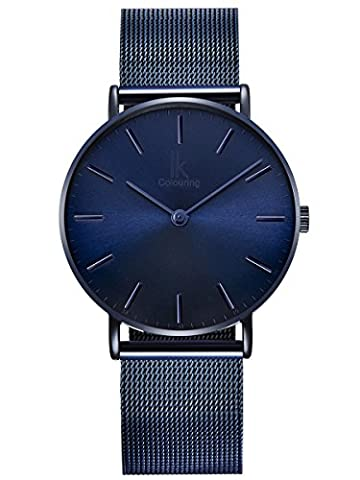 Alienwork Quartz Watch elegant Wristwatch stylish Timeless design classic Metal blue 98469NBG-L-03