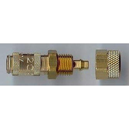 Airbrush Schnellverschlußkupplung NW 2,7 Textilschlauch 4x6mm Kompressor Pistole