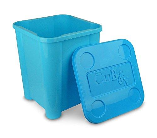 355312 Caja de plástico rigido para juguetes con tapa 29 x 33 x 33cm (AZUL)
