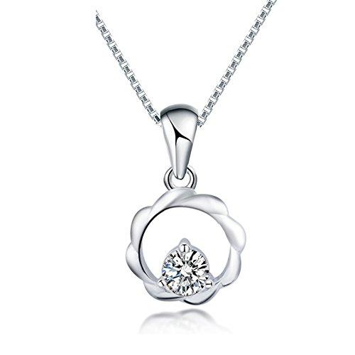 Ladies circle breve catena della clavicola/ semplice ciondolo/ Silver collane moda-A
