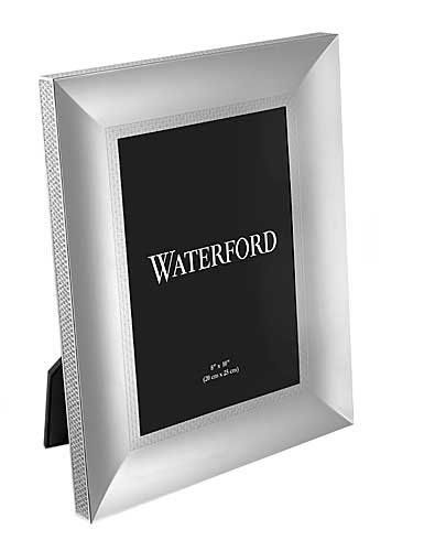 LISMORE DIAMOND patterned 8x10 silver frame by Waterford - 8x10 by Waterford