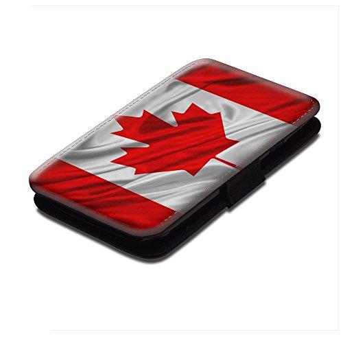 bandiere-canada-sventolando-nero-portafoglio-magnetico-flip-custodia-protettiva-in-pelle-wallet-case