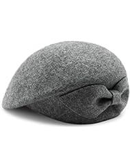 Sombrero de lana Sombrero de pintor de sombrero ( Color : Gray )