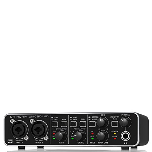 Behringer UMC204HD interfaccia audio 2x4 MIDI/USB 24bit/192khz preamplificatori MIDAS
