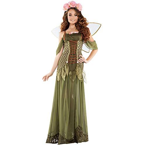 Blumen Kostüm Fee Frauen - DASENLIN Kostüm Frauen, Halloween, Wald Blume Fee Schmetterling Elf Engel, Rollenspiel Set,L