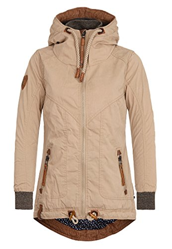 Naketano Female Jacket Watch this thing bounce Sand, L