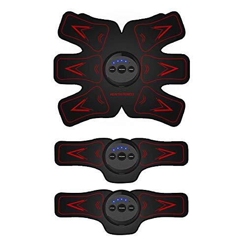 Estimulador Muscular EMS Abdominal Estimulador Muscular Dispositivo Entrenamiento Especialmente Diseñado para Abdomen, Brazos y Piernas para Quemar Grasa y Desarrollar Músculo para Hombres & Mujeres