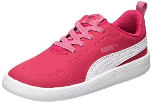 Puma Unisex-Kinder Courtflex Inf Sneaker, Pink (Love Potion-White), 24 EU (Kinder Puma Schuhe)