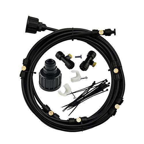 Slibrat Outdoor Misting Cooling System Mist Nozzle Garden Irrigation Kit  (18m Set)