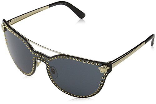 Versace Damen 0VE2177 125287 45 Sonnenbrille, (Pale Gold/Grey)