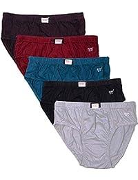Esteem Women's Cotton Elastic Panties - Pack of 5