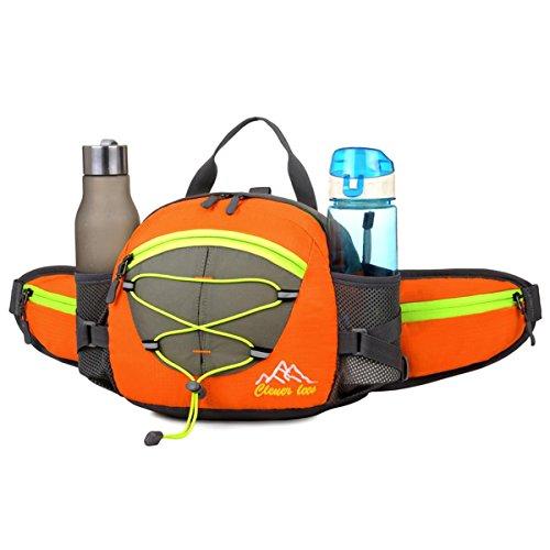 Fahrrad Tasche Handtasche Groß Kapazität Outdoor Sport multifunktional-Rucksack Wandern Bergsteigen Travel Backpack in der Taille 5 Farben H22 x l 22 x T10 cm Orange