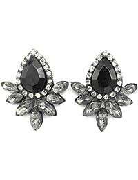 Gemmas Grey Gorgeous Statement Stud Earrings For Women