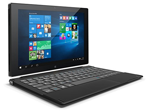 Odys Duo Win 10 plus 3G 25,7 cm (10,1 Zoll IPS Display) Convertible Tablet-PC (Intel Atom Quad Core Z3735, 2GB DDR III RAM, 32GB Flash HDD, 3G Funktion, Win 10 Home) schwarz
