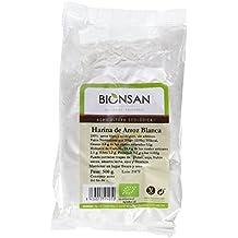 Bionsan Harina de Arroz Blanca - 4 Paquetes de 500 gr - Total: 2000 gr