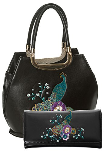 Dancing-Days-by-Banned-Peacock-Floral-Vintage-50s-Handbag-and-Wallet-SET
