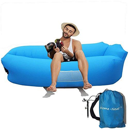 Home-Neat Outdoor aufblasbare Liege tragbar Wasserdicht Air Ballon Luft gefüllt Bag Sitzsack, Nylon Stoff, Air Schlafen Sofa Couch, für Camping, Strand, Park, Backyard