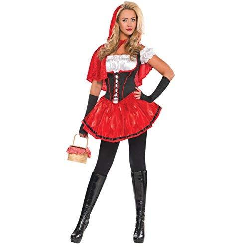 Emmas Wardrobe Red Riding Hood Kostüm für Erwachsene - Frauen-Abendkleid für Halloween oder Hen Parties - Made UK Größen 6-16 (Women: (Red Riding Hood Kostüm Frauen)