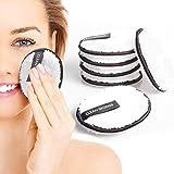 JIPRENS Waschbare Abschminkpads Mikrofaser Abschminktücher Wiederverwendbare Abschminktücher 6 Stück Make up Entferner Pads Kosmetikpads zur Make-Up Entfernung,Umweltfreundlich & nachhaltig