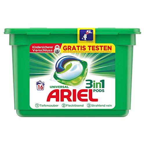 Ariel 3in1 PODS Vollwaschmittel- 16Waschladungen