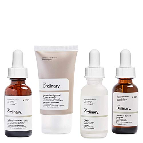 The Ordinary Healthy Skin Set,4pieces rich in vitamins, peptides and amino acids which work to restore hydration, brighten the complexion and smooth fine lines for a noticeably younger-looking effect. -