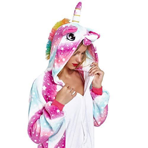 NOUSION Unisex - Erwachsene licorne pyjamas, cosplay weihnachten einhorn nachtwäsche onesies outfit klein sky unicorn new