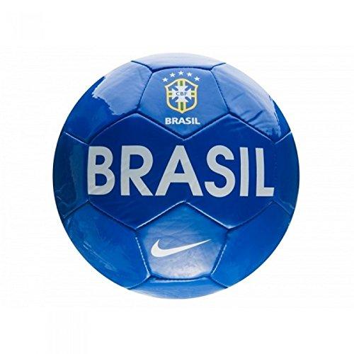 Nike - Balón fútbol texto Brasil (Talla 5/Azul)