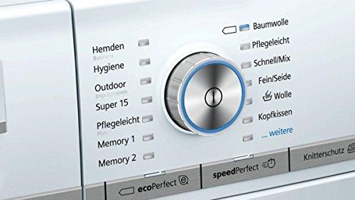 Siemens iQ800 WM14Y74D iSensoric Premium-Waschmaschine / A+++ / 1400 UpM / 8 kg / Weiß / VarioPerfect / Super15 / Antiflecken-System - 6