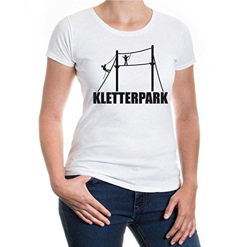 buXsbaum® Girlie T-Shirt Kletterpark White-Black