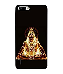 PrintVisa Designer Back Case Cover for Huawei Honor 6 Plus (Art religion Prayer Abstract Backcase Peace Flame)