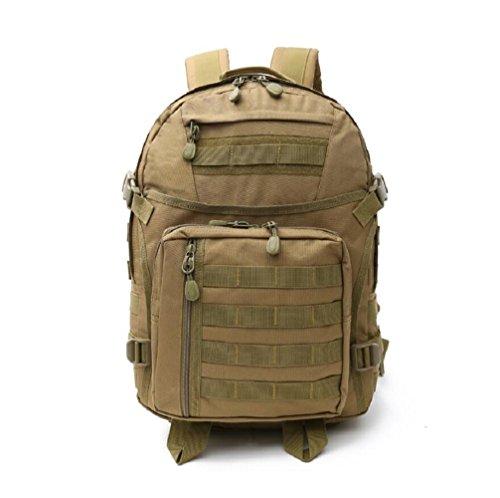 LJ&L Outdoor 36-55L Hochleistungs-Schultern Tarn-Taktik Camping Wandern Tasche, starke Verschleiß-resistenten Licht, Nylon wasserdicht reißfesten Camping Rucksack C