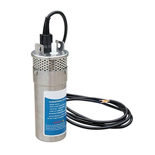 ECO-WORTHY Bomba pozo agua sumergible 24V DC acero
