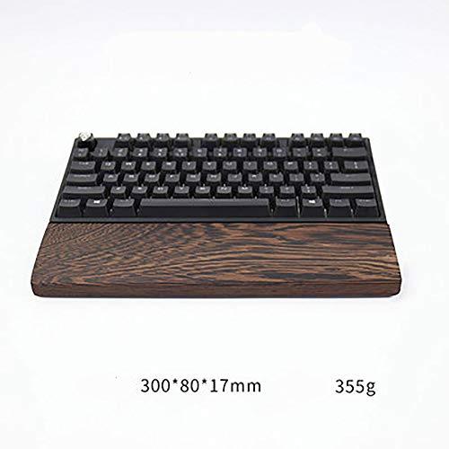 SSSLG Tastatur-Handballenauflage aus Holz, PANGA-PANGA, 4 Größen, passend für 60% 80% 100% Tastatur, anpassbare Tastatur-Handballenauflage,1