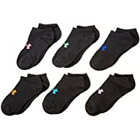 Under Armour Girls Solid 6pks Noshow Socks (Pack of 6)