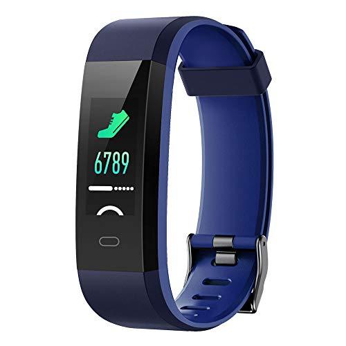 Willful Fitness Armband mit Pulsuhr,Wasserdicht IP68 Fitness Uhr Smartwatch Farbbildschirm Fitness Tracker Pulsmesser Schrittzähler Sportuhr für Damen Herren Anruf SMS Beachten für iOS Android Handy -