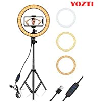 "YOZTI 7 Feet Long Tripod Stand (84 Inch) with 12"" LED Ring Light Combo for Tiktok MX Taka tak Instagram Reels YouTube…"