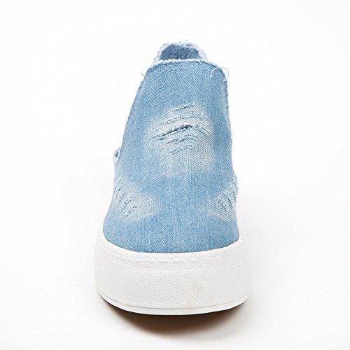 Ideal Shoes, Damen Slipper & Mokassins Himmelblau
