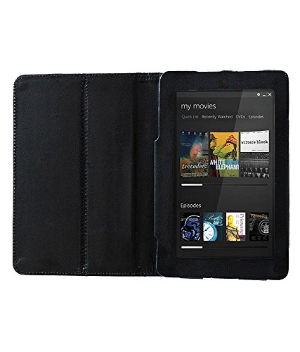 Acm Executive Leather Flip Case For Dell Venue 7 Tablet Front & Back Flap Cover Stand Holder Black  available at amazon for Rs.219