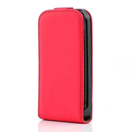 HSRpro Flip Hülle für Apple iPhone 3G - iPhone 3GS - Schutzhülle Cover Case Schutz Etui in Rot Iphone 3g Leder-etui