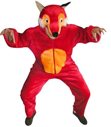 F21/00 Gr. M Fuchs Kostüm für Fasching und Karneval, Kostüme für Frauen Männer Erwachsene Paare, Faschingskostüm, (Fuchs Medium Süsse Kostüm)