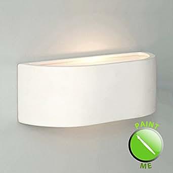 Modern G9 Mini Planter Style White Ceramic Wall Light