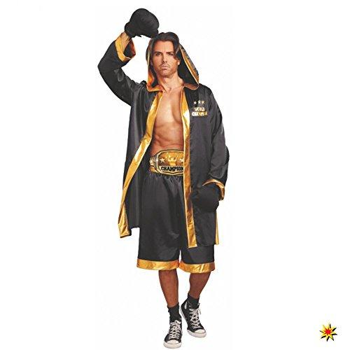 Pet Boxer Kostüm - Dreamgirl Kostüm Boxer Gr. M- XXL World Champion Boxkampf Sportler Fasching (M)