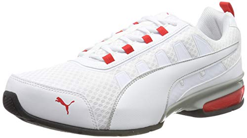 PUMA Unisex-Erwachsene Leader Vt Mesh Sneaker, Weiß (Puma White-High Risk Red 8), 43 EU (9 UK)