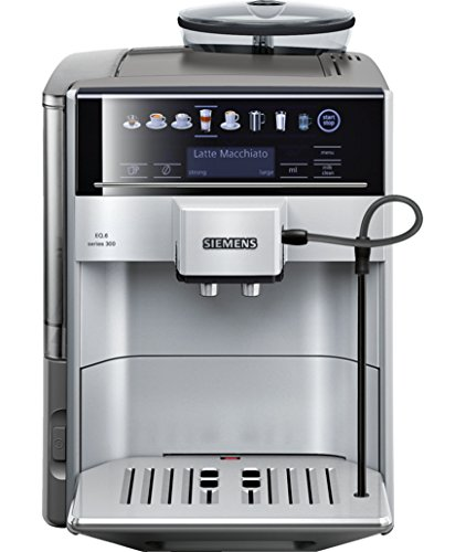 TE603201RW SIEMENS Espresso entièrement automatique Silver EQ.6 Series 300, 15 bar, sensoflow system, touch screen