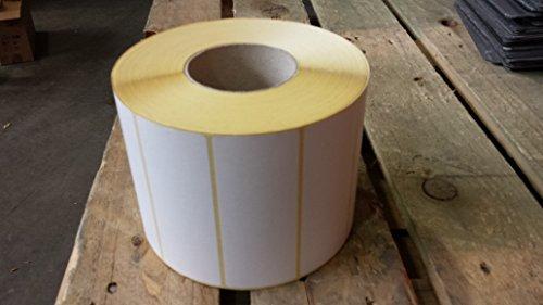 127mm x 51mm, bianco opaco trasferimento termico permanente-Etichette Prezzo Etichette per Rotolo di 2777(P/No. (Opaco Trasferimento)