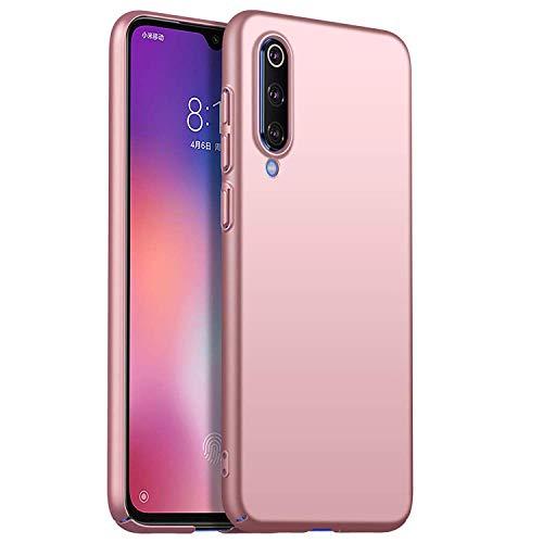 RFLY Funda Xiaomi Mi 9 Funda Protectora Resistente A Prueba De Golpes, Mate, Delgada, Dura y Rígida para PC Xiaomi Mi 9 SE, Oro Rosa